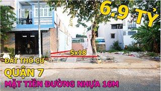 Bán Đất Khu Tái Định Cư Phú Mỹ Ven Sông Quận 7 Thổ Cư DT 5x18     Tường Nguyễn    Bán Đất Quận 7