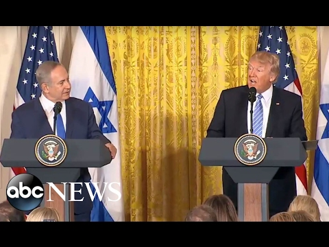 Trump, Netanyahu Full Press Conference | ABC News