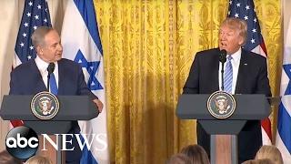 Trump, Netanyahu Full Press Conference | ABC News