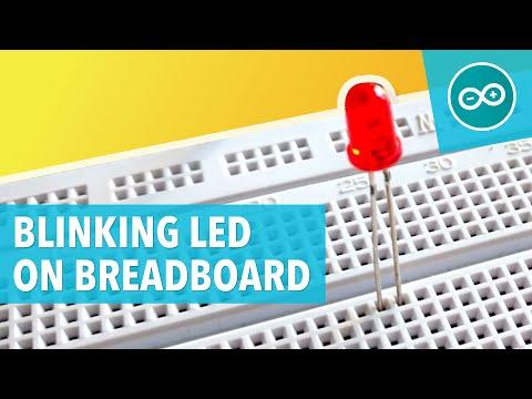 BLINKING LED ON BREADBOARD - Arduino #2