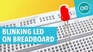 #2 Blinking LED on breadboard
