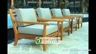 Teak Deep Seating Patio Furniture From Indonesia
