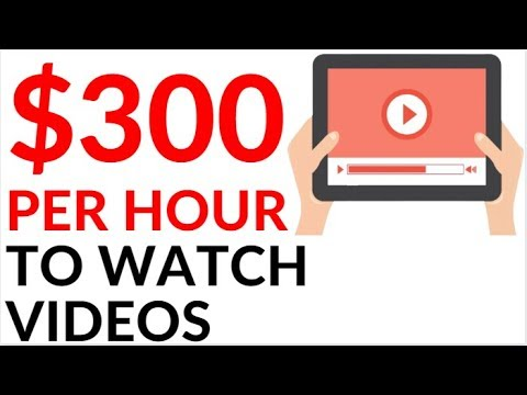 Earn $300.00 By WATCHING VIDEOS (Make Money Online)