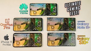 Call of Duty Mobile iPhone 11 Pro MAX vs Note 10 Plus vs OnePlus 7 Pro vs Huawei P30 Pro Gaming Test
