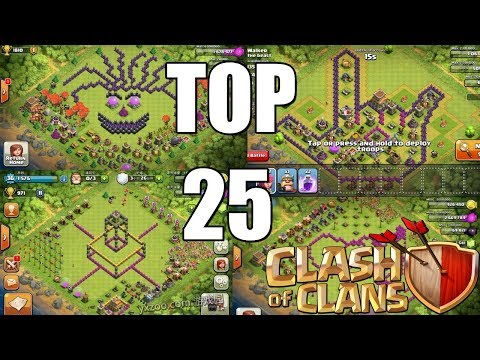 Clash of Clans - TOP 25 ILLUMINATI Base Design Compilation