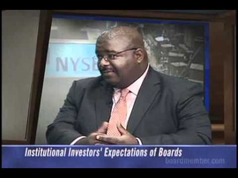 Institutional Investors' Expectations of Boards
