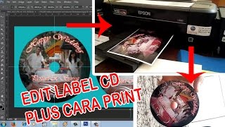 cara edit label cd | cara print label cd