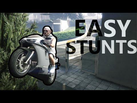 GTA 5 - TOP 15 EASY STUNTS FOR BEGINNERS