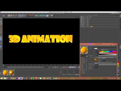 How to make 3d text on Cinema 4D - Cinema 4D tutorial Gold Color