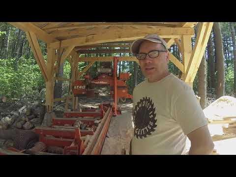 Update On The Temporary Sawmill Shed