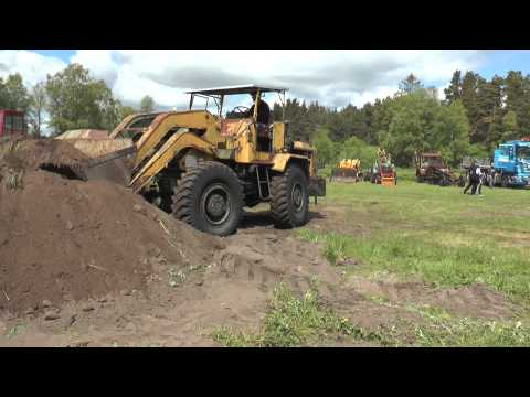 Hatra wheel loader with rotary torque of the loader against truck 2014