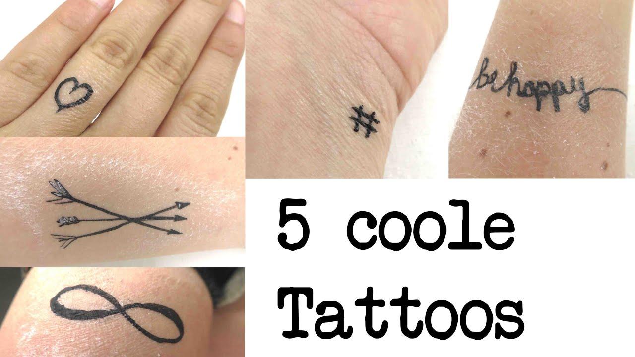 5 coole temporäre Tattoos zum selber machen / Ideen für coole Motive ...
