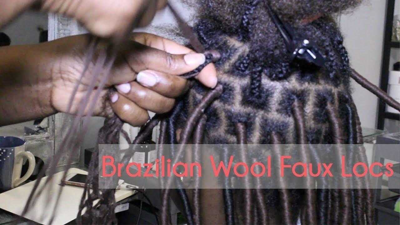 Crochet Faux Locs With Brazilian Wool Hair Youtube