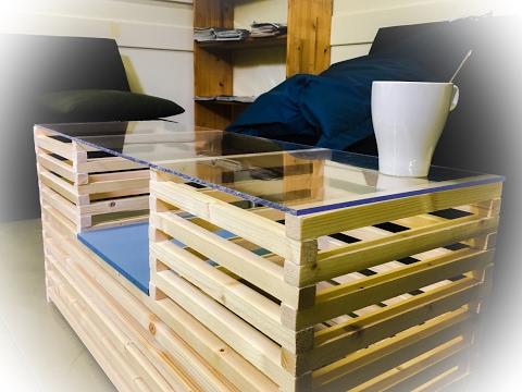 Comment réaliser une table basse avec des tasseaux de bois ?