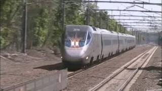 Amtrak Acela Express in 150 mph Zone