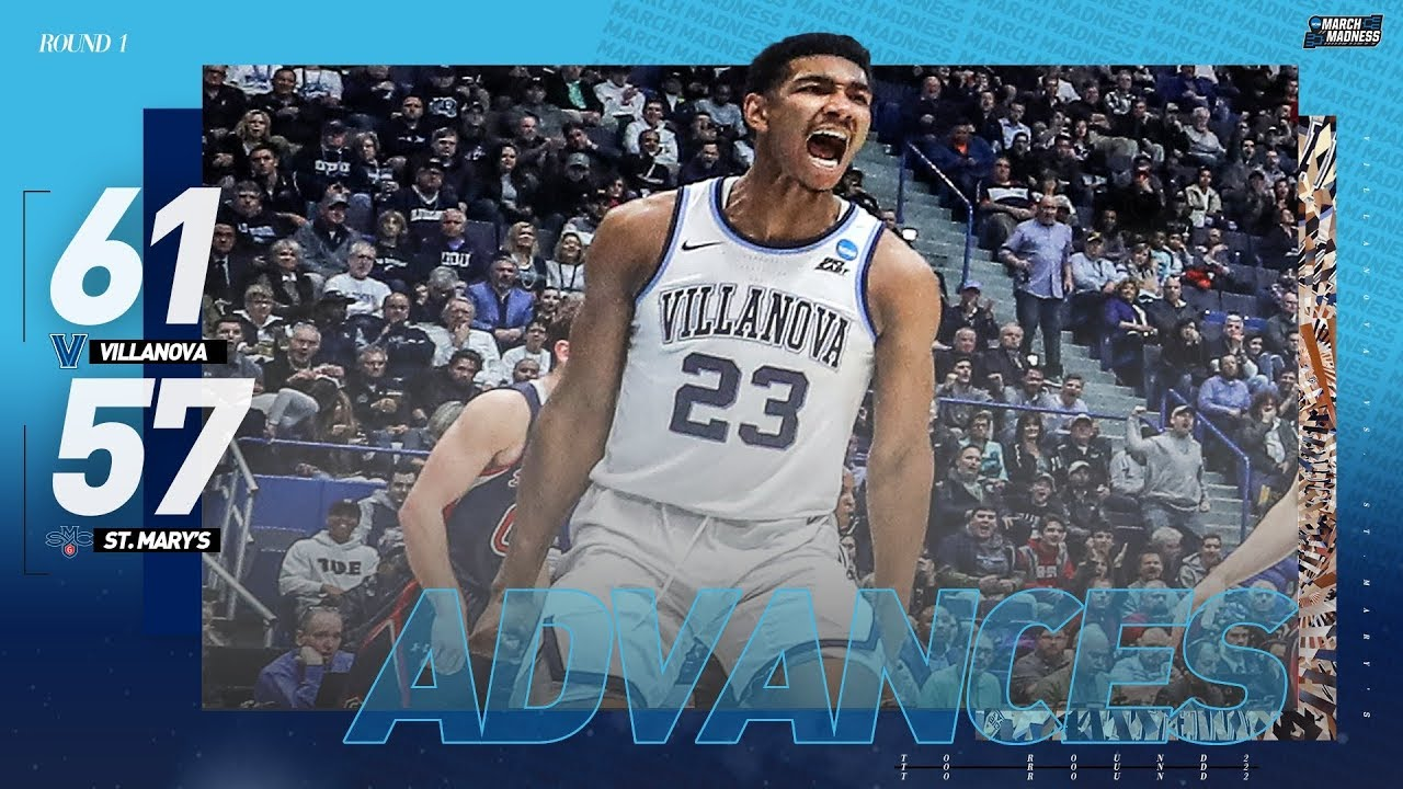 Villanova vs. Saint Mary's: First Round NCAA Tournament Extended Highlights