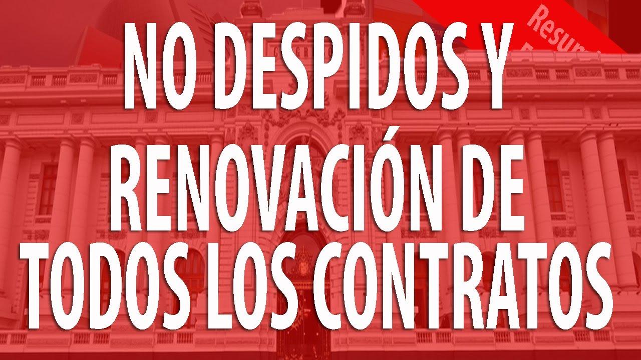 Congreso prohíbe Despidos y asegura Renovación de Contratos l Proyecto de Ley Aprobado en Comisión