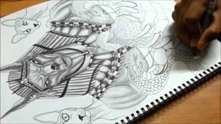 Drawing Time Lapse: ANUBIS