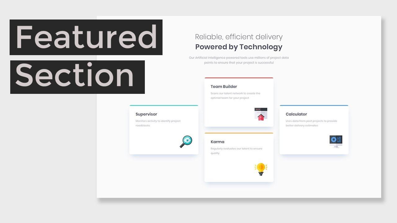 Create Featured Section With HTML & CSS   Frontend Mentor Challenge
