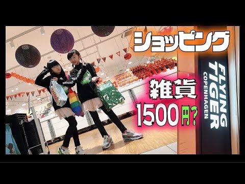 雑貨1500円チャレンジ?!ももかちゃんとコラボでフライングタイガーショッピング【ほのぼの番組】