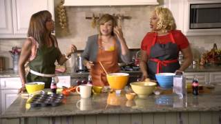 Tisha Campbell-Martin's Mac-and-Cheese Cupcakes (Coca-Cola Kitchen Table 1 of 4)