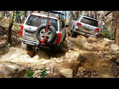 Toyota Land Cruiser LC200 vs Nissan Patrol GU4 @ Nine Mile Steps
