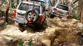 Toyota Land Cruiser LC200 vs Nissan Patrol GU4 @ Nine Mile Steps