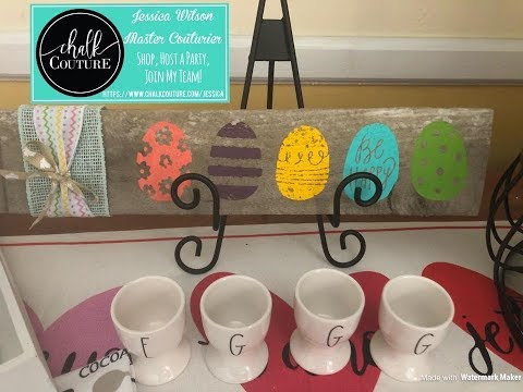 Chalk Couture Happy Easter on Pallet Wood #DIY #ChalkArt #DIYEasterDecor
