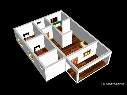 Small House Design Plan 10 X 14m 2 Bedroom With American Kitchen 2020