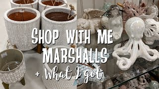 Shop with Me-Marshalls Home Decor Shopping+Mini Haul-Spring-Summer 2018!