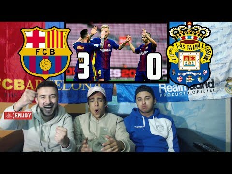 CR7 FAN REACTS TO MESSI GUIDING BARÇA PAST LAS PALMAS 3-0 - REACTION