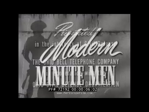 "ATOMIC ERA CIVIL DEFENSE FILM ""MODERN MINUTE MEN"" 72192"