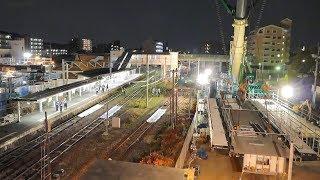 LIEBHERR LTM 11200 NX - JR篠栗駅自由通路架設工事 【松浦重機】