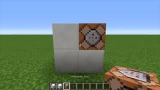телепорт/лифт с помощью командного блока