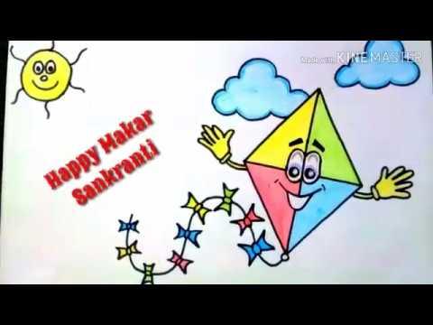 How To Draw Makar Sankranti Festival Step By Step Draw Shyam Art