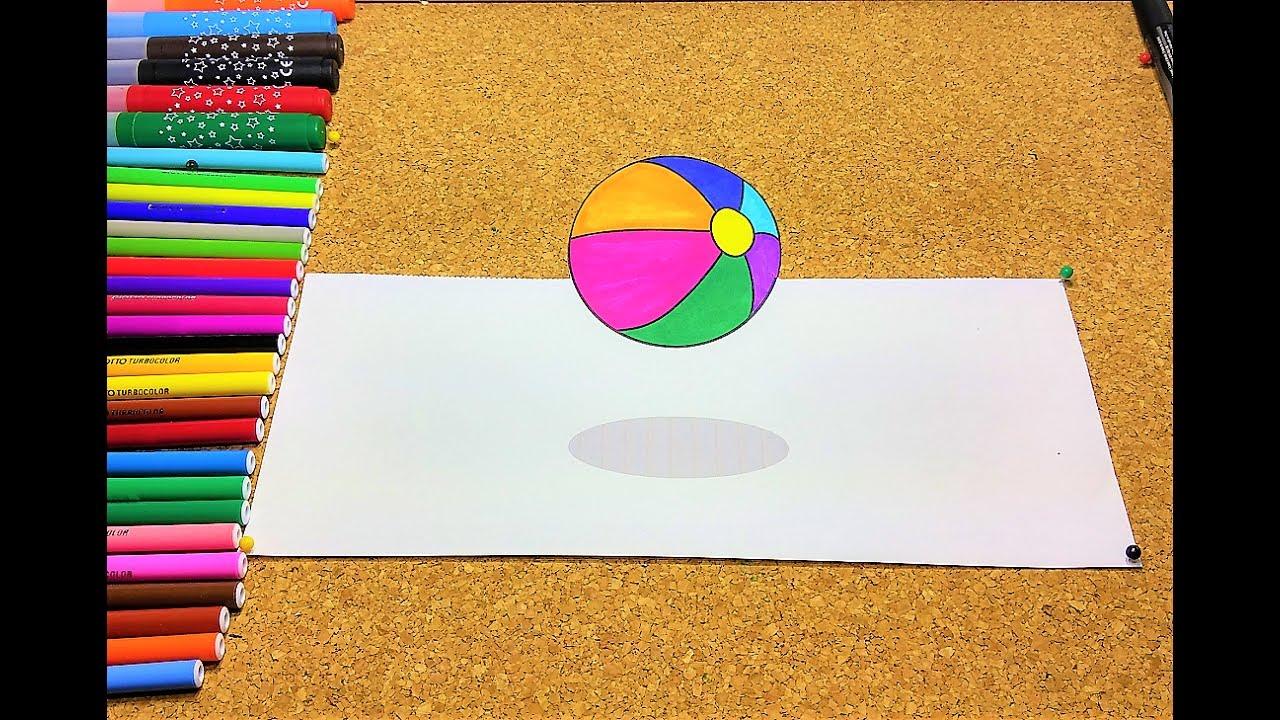 Imprima E Pinte A Bola 3d Desenhos Para Colorir Youtube
