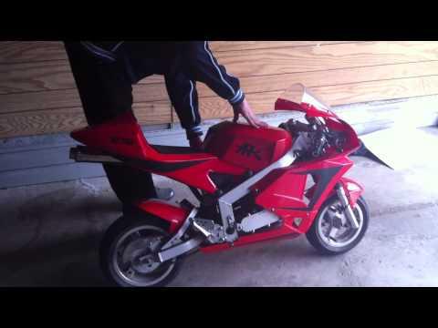 X-1 Pocket Bike Wont Start Up - YouTube on