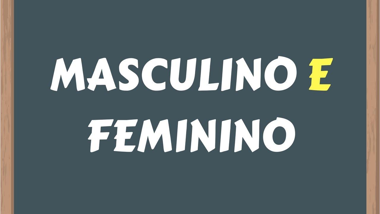 2fbaef1856 📌MASCULINO E FEMININO (Simples e fácil) [Prof. Alda] - YouTube