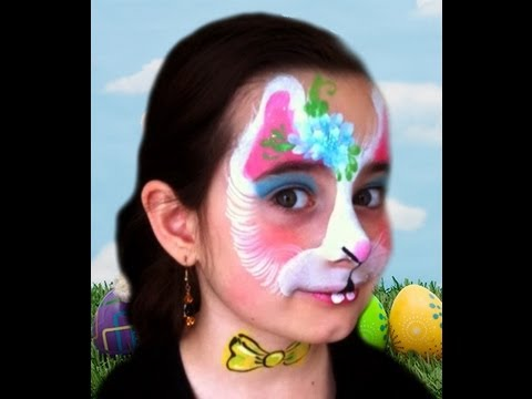 Easter Bunny Face Paint Design Tutorial - YouTube
