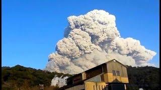 Извержение вулкана в Японии 6.03.2018
