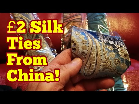 Quality £2($3) Silk Ties From China's AliExpress / Hertfordshire Allotment Life