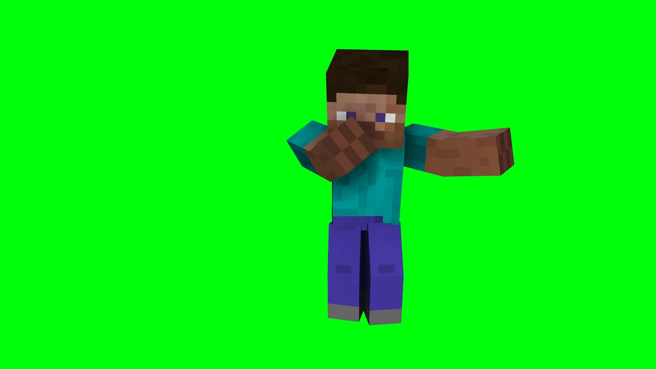 High Quality Green Screen Of Minecraft Steve Dabbing Youtube