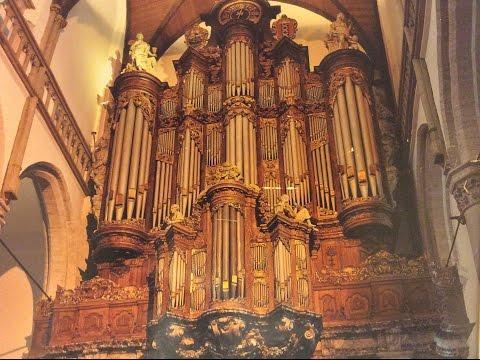 """Willem H. Zwart speelt """"""""Psalm 43 """"""""  Orgel Oude kerk Amsterdam"""