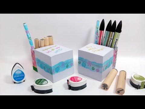 Storage Note Cube // Gift Idea!