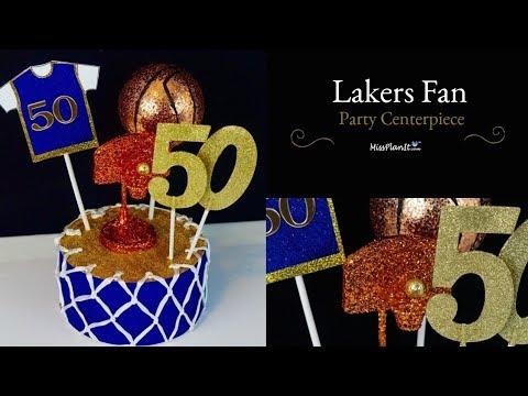 DIY Party Centerpiece | DIY Party Decorations  | DIY Tutorial Basket Ball Theme