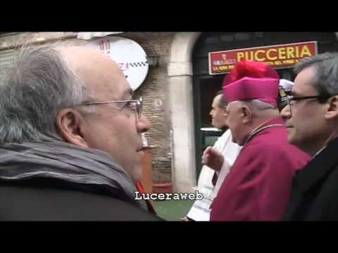 Arrivo vescovo Giuseppe Giuliano a Lucera