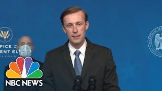 Biden's National Security Advisor Jake Sullivan Delivers Remarks | NBC News