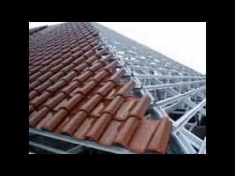 rangka baja ringan pakai genteng tanah atap galvalum youtube