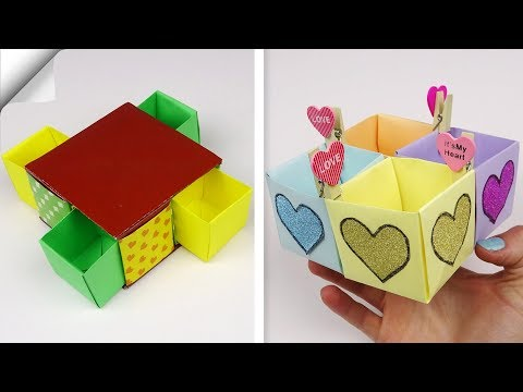 7 DIY paper box easy | How to make paper box