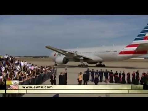 Papst Franziskus in den USA - Abflug von Washington nach New York